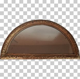 18th Century Wood Carving Arch Mirror PNG