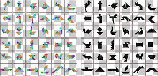 Tangram Puzzle Mathematics Worksheet PNG