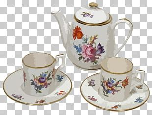 Tea Set Coffee Teapot Teacup PNG