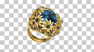 Sapphire Rhinoceros 3D Jewellery Jewelry Design Ring PNG