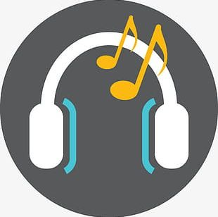 Notes Headphone Music Icon Logo PNG