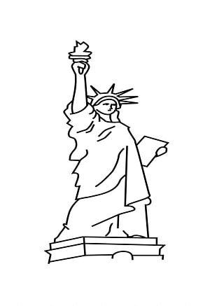 Statue Of Liberty Cartoon Drawing PNG