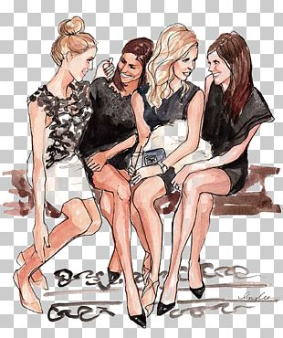 Friendship Drawing Fashion Illustration Best Friends Forever Illustration PNG
