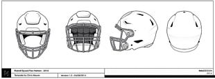 NFL Template American Football Helmets PNG