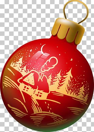 Red Ball Ornament PNG