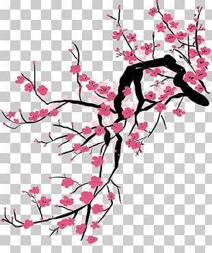 China Cherry Blossom Plum Blossom Painting PNG