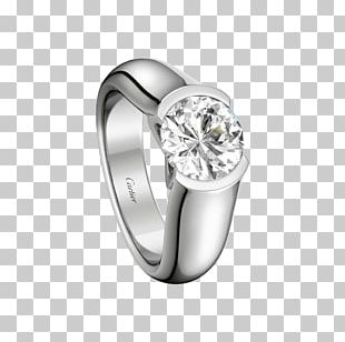 Engagement Ring Wedding Ring Solitaire Cartier PNG