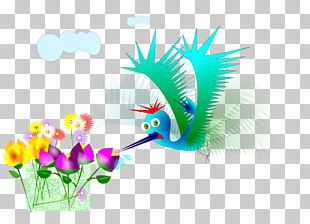Flower Beija Flor PNG