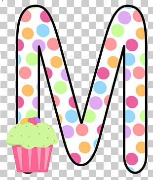 Cupcake Letter Alphabet Pasta PNG