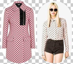 Polka Dot Blouse Fashion Clothing Dress PNG