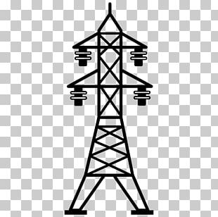 Overhead Power Line Computer Icons Electric Power Transmission Transmission Tower PNG