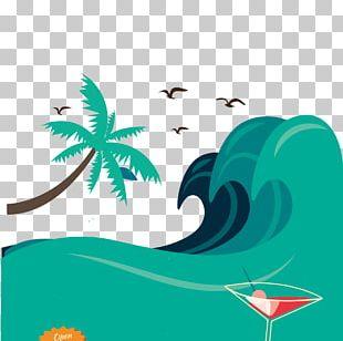 Wind Wave Poster Summer Illustration PNG