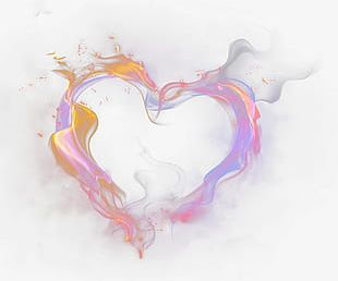 Cartoon Color Heart-shaped Smoke Decoration PNG