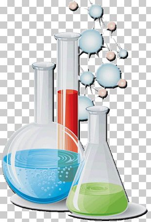 Laboratory Flasks Chemistry Science Scientist PNG