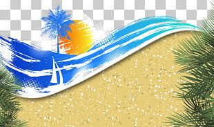 Banner Summer Beach PNG