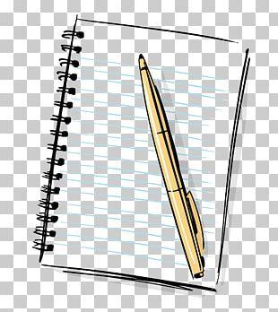 Paper Notebook Cartoon Pen PNG