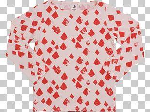 Sleeve Polka Dot T-shirt Textile Top PNG