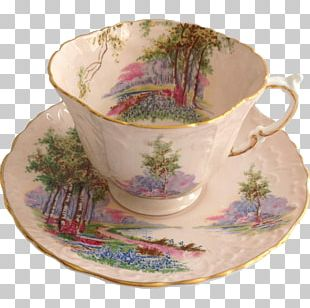 Coffee Cup Saucer Porcelain Teacup Plate PNG