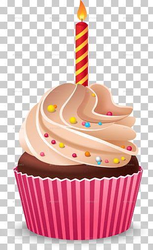 Cupcake Birthday Cake Cream Muffin PNG