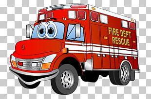 Fire Engine Cartoon Truck PNG