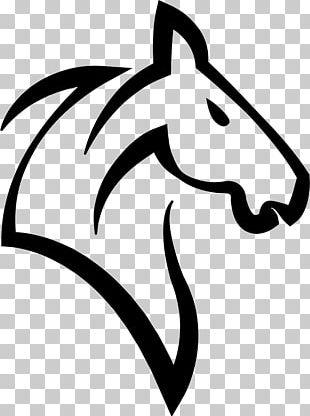 Horse Head Mask Unicorn Horn Logo PNG