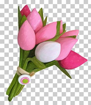 Tulip Flower Bouquet Cut Flowers Floristry PNG