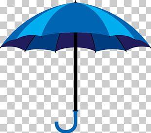Umbrella Blue Illustration PNG