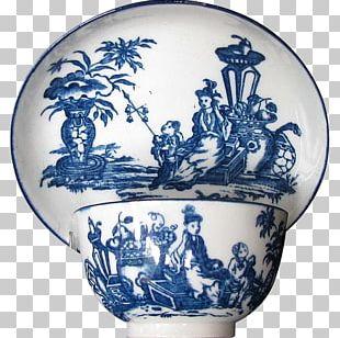 Vase Blue And White Pottery Ceramic Cobalt Blue Saucer PNG