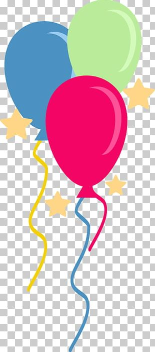 Balloon Graphic Design Pink M PNG