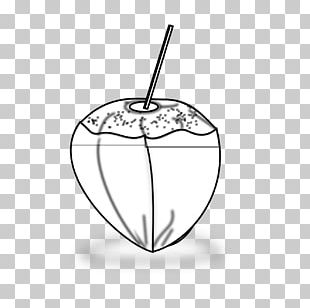 Black And White Drawing Coconut PNG