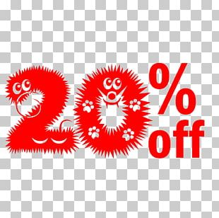 Cute Hairy Halloween 20% Off Discount Tag. PNG