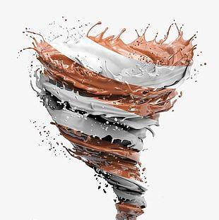 Chocolate Splash Effect Rotation PNG