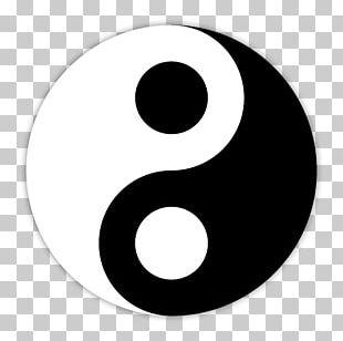 Yin And Yang Taoism Symbol Taijitu Black And White PNG