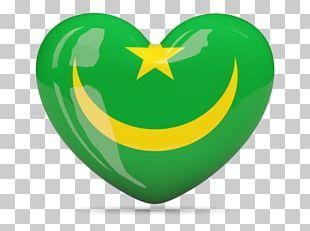 Flag Of Mauritania Heart PNG