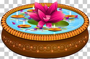 Indian Floating Candles And Lotus Transparent PNG