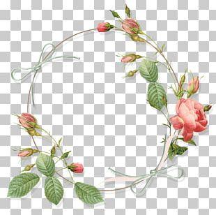 Garden Roses Flower Circle PNG