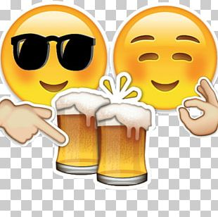 Beer Glasses Emoji Alcoholic Drink Beer Bottle PNG
