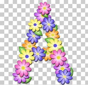 Flower Letter Alphabet Floral Design PNG