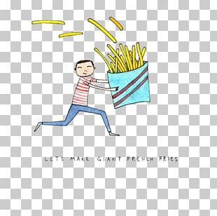 French Fries Drawing Watercolor Painting Illustration PNG