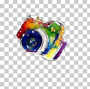 Camera Watercolor Painting Photography PNG