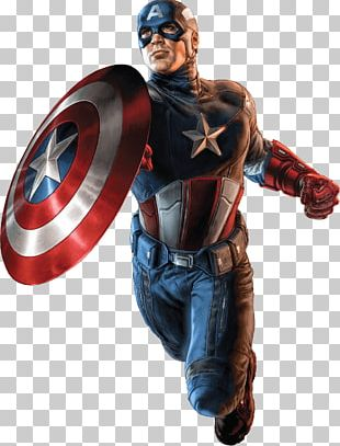 Captain America Flying PNG