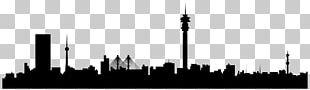 Johannesburg Skyline Silhouette Photography Art PNG
