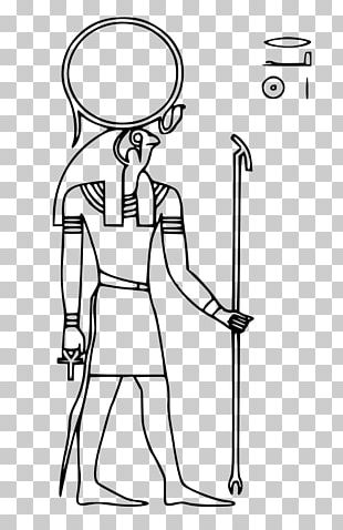 Ancient Egypt Line Art Ra PNG