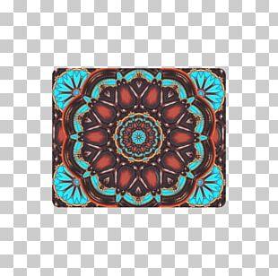 Turquoise Canvas Print Symmetry Mat Pattern PNG