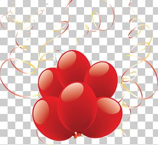 Balloon Red Group PNG