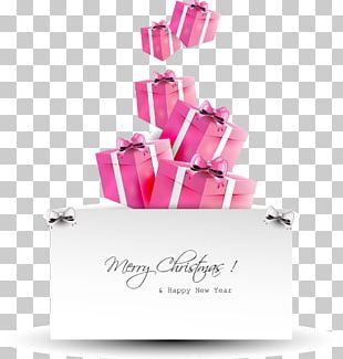 Santa Claus Gift Christmas Card PNG