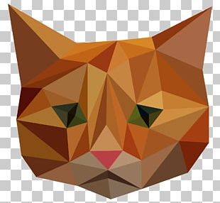 Cat Low Poly Illustration PNG