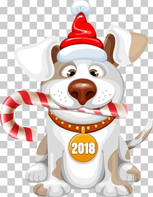 Dog New Year Christmas PNG