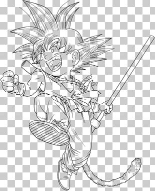 Goku Line Art Chi-Chi Dragon Ball Manga PNG