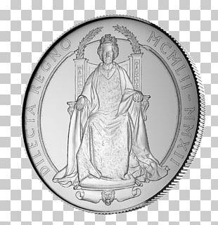 Diamond Jubilee Of Queen Elizabeth II Royal Mint Silver Coin PNG